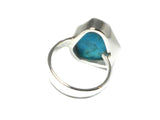 Adjustable 'Sleeping Beauty' TURQUOISE Sterling Silver 925 Ring - (SBR0506171)