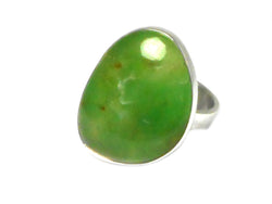 CHRYSOPRASE Sterling Silver 925 Gemstone Ring - Size N