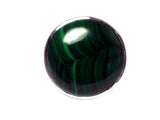 MALACHITE Sterling Silver 925 Gemstone Ring - Size Q - (MLR2305171)