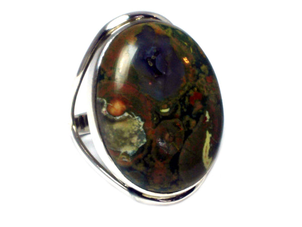 Rainforest JASPER Sterling Silver 925 Ring - Size U