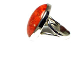 Sponge CORAL Sterling Silver 925 Ring (Sizes O) - (SCR2305171)