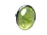 PREHNITE Sterling Silver 925 Oval Gemstone Ring - Size N - (PRR2305171)