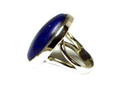LAPIS LAZULI Sterling Silver 925 Oval Gemstone Ring - Size: M - (LLR2305171)