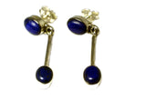 LAPIS LAZULI Sterling Silver Gemstone Earrings / Studs 925 - (LLST2906171)