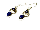 Blue LAPIS LAZULI Sterling Silver Gemstone Earrings 925 - (LLST2906171)