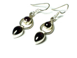 GARNET Sterling Silver Gemstone Earrings 925 - (GER2906171)