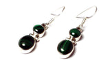 MALACHITE Sterling Silver Gemstone Earrings 925 - (MLS2906171)