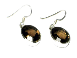 Smoky QUARTZ Sterling Silver 925 Gemstone Earrings