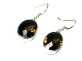 Smoky QUARTZ Sterling Silver 925 Gemstone Earrings - (SQE2605171)