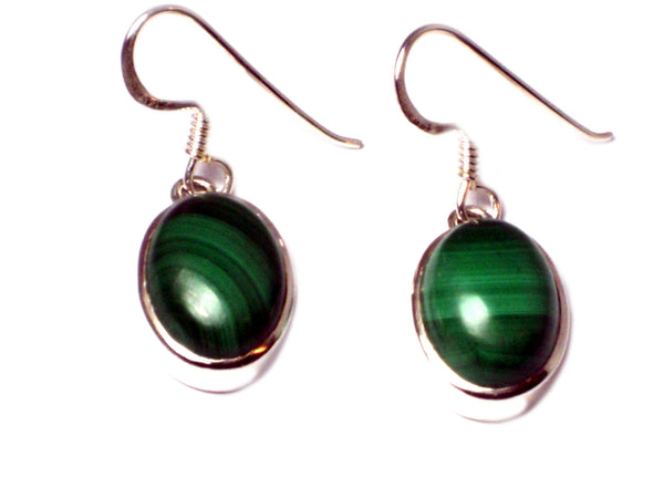 MALACHITE Sterling Silver 925 Gemstone Earrings