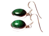 MALACHITE Sterling Silver 925 Gemstone Earrings - (MLS2605171)