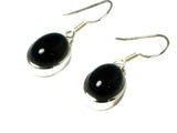 BLACK ONYX Sterling Silver Gemstone Earrings 925 - (BOER2605171)