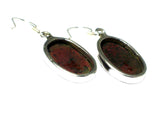 Mahogany Obsidian Sterling Silver 925 Gemstone Earrings - (MOBE2605171)