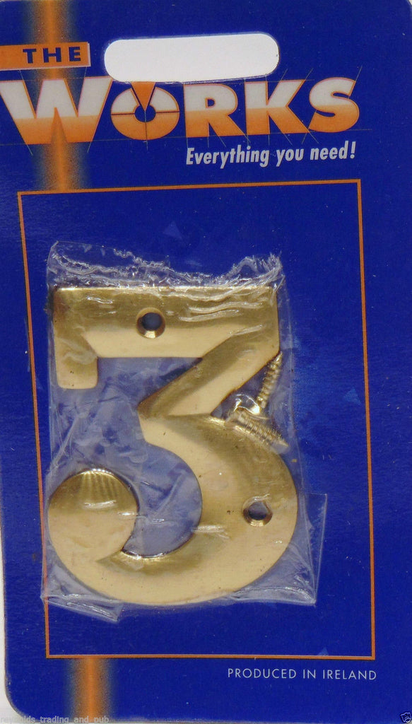Modern House Door Gate Numbers 0123456789 Solid Brass 238 6cm