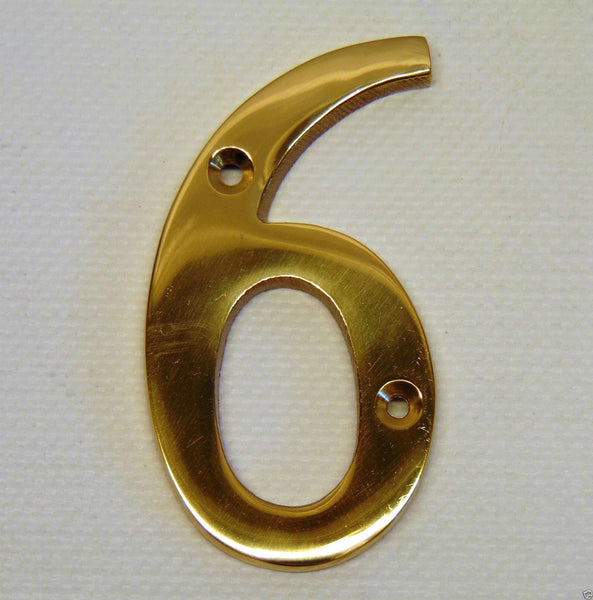 "Large Solid Brass Number 3""-77mm 3/16""-5mm Thick House/Home/Front/Door/Gate/Flat"