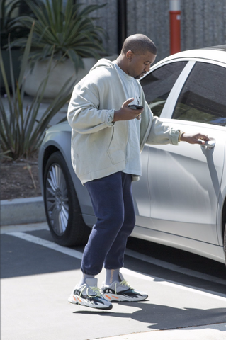 pretty nice 5a08b d9fbe Ye, Virgil Abloh and Tremaine Emory spotted in the Yeezy ...