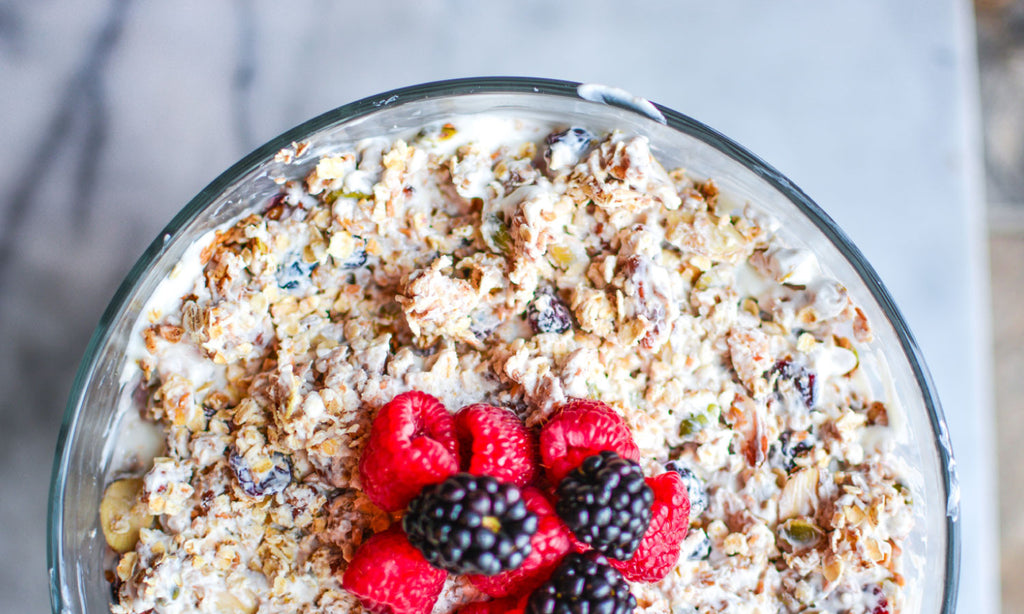 Fruit and Yogurt Parfait & Homemade Granola