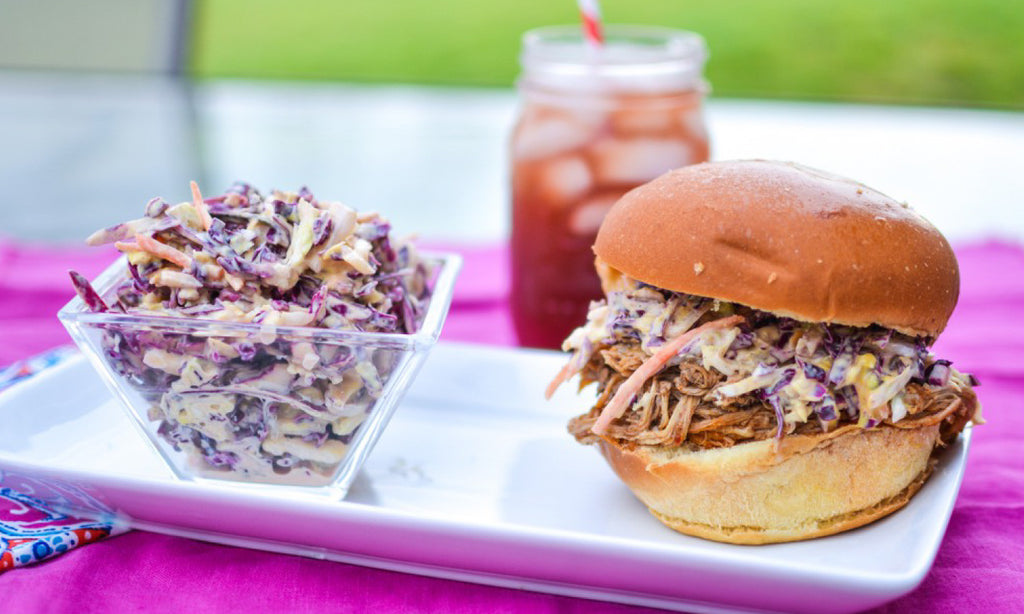 Skinny Pulled Pork + Coleslaw Recipe