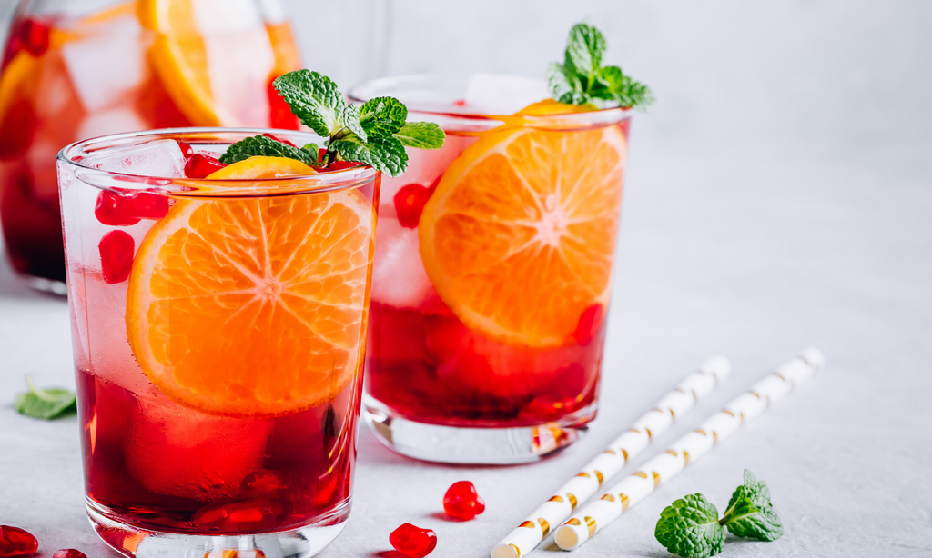 Mint Pomegranate Sweet Tea recipe