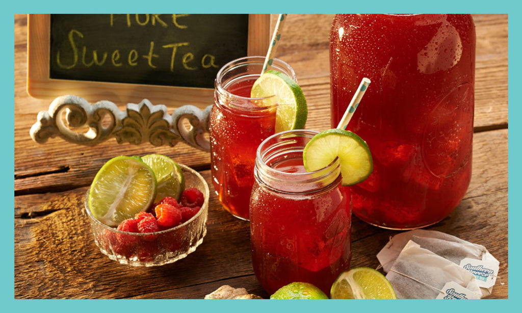 Raspberry Ginger Lime Sweet Tea