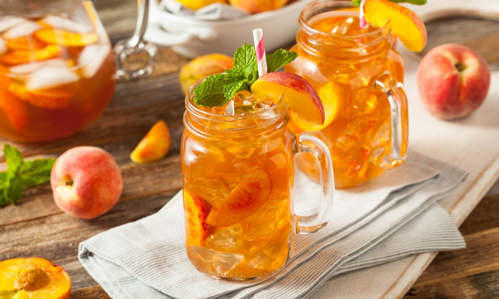 Sweet Peach Green Tea Lemonade Recipe