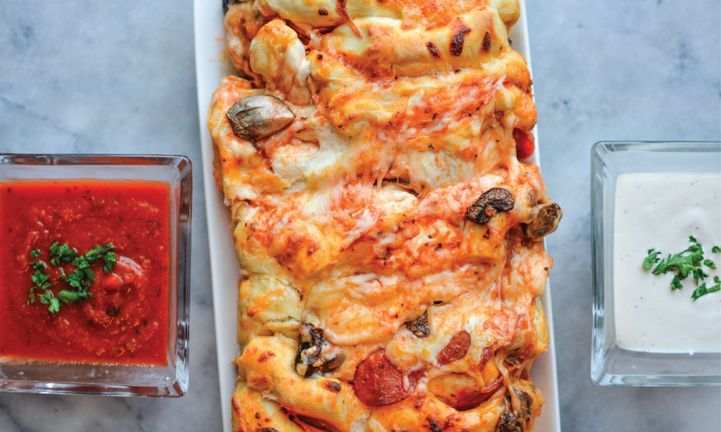 Tailgate Recipe: Pull-Apart Pizza Bread