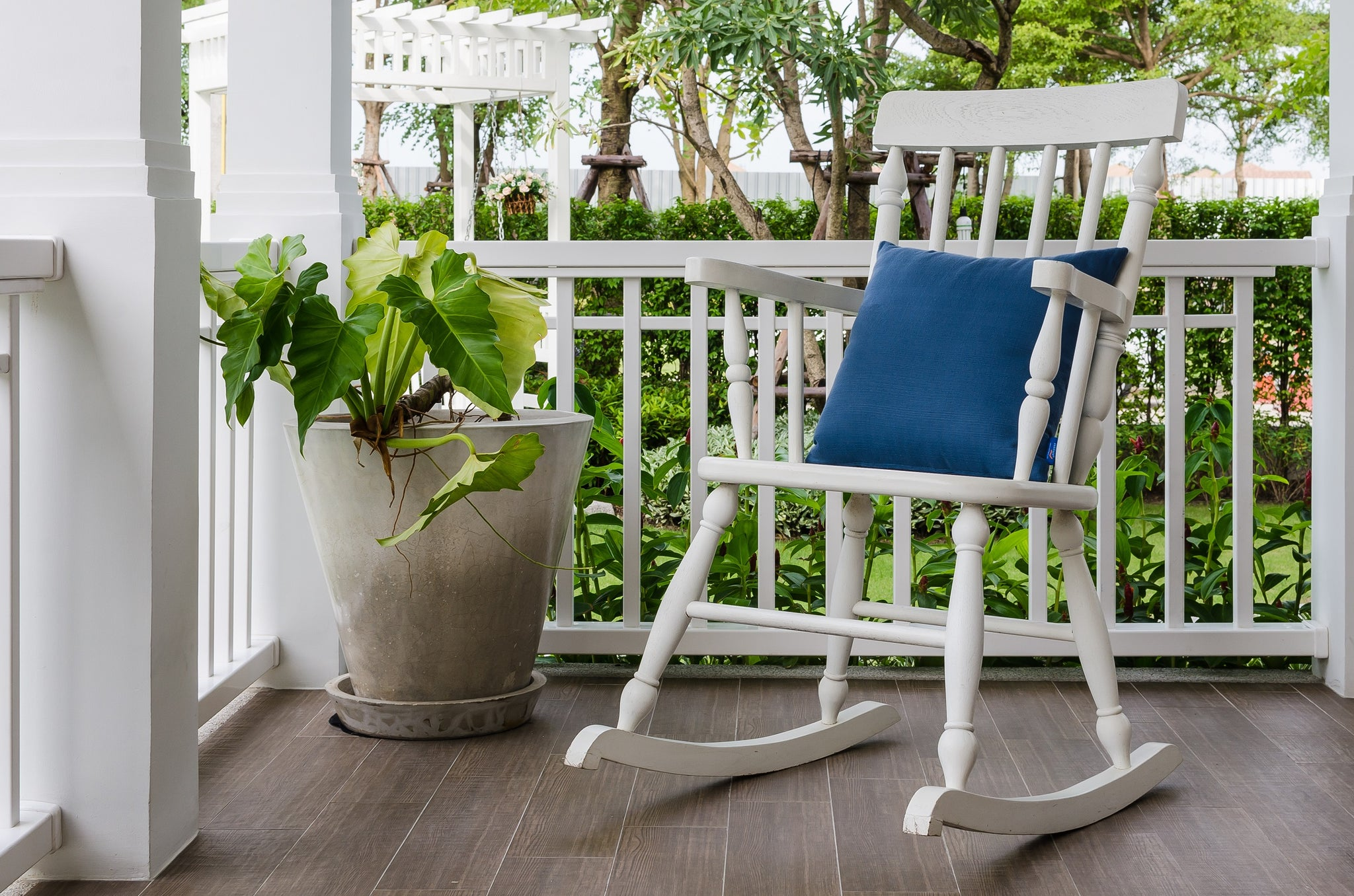 Add Colorful Pillows to Liven Up a Porch