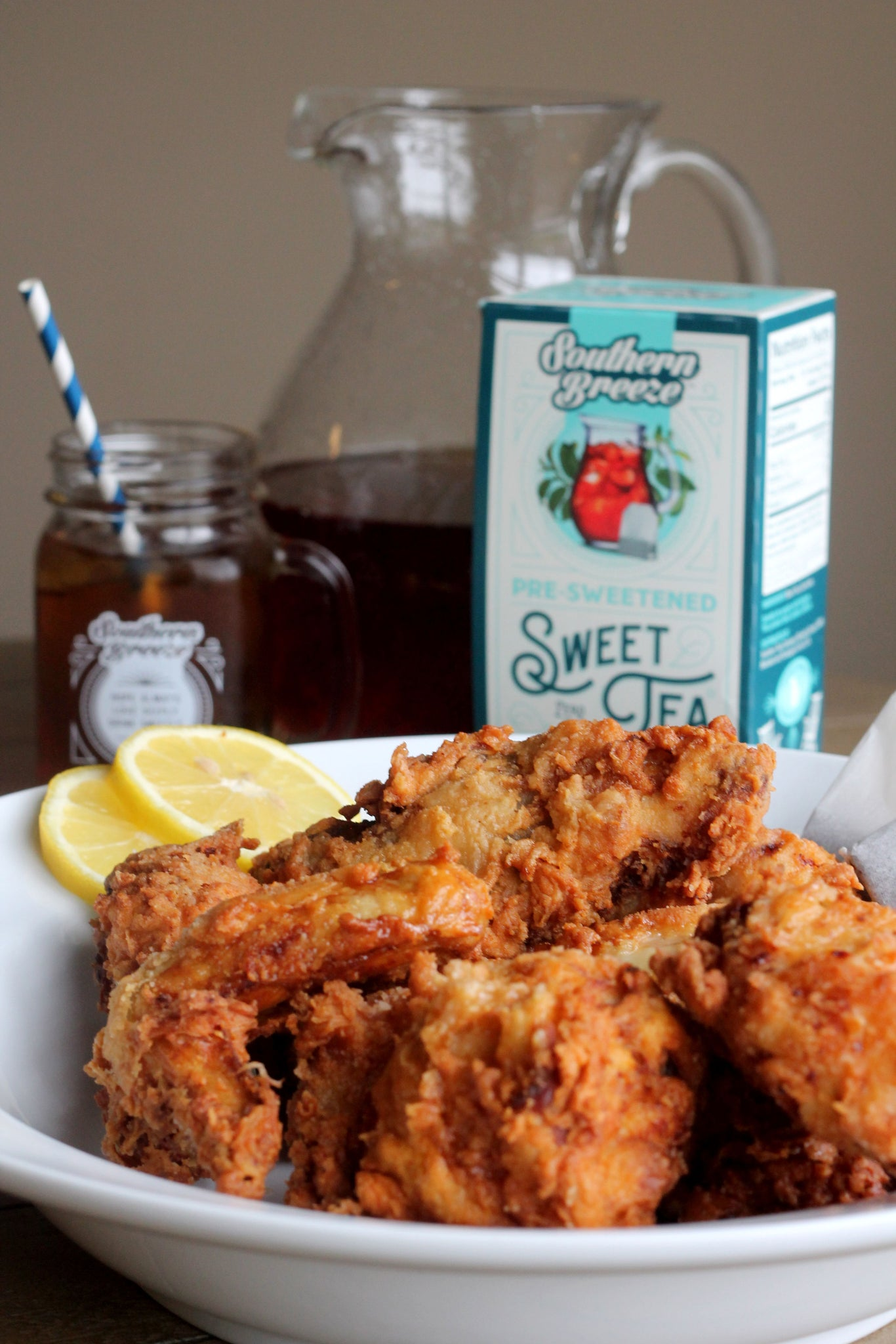 sweet tea fried chicken bourbon glaze