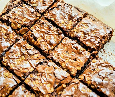 Low-Carb Brownies with Almond Butter Icing