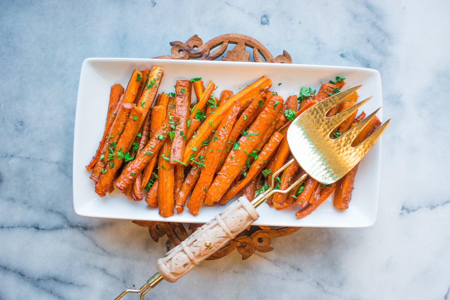 Garnish Roasted Carrots