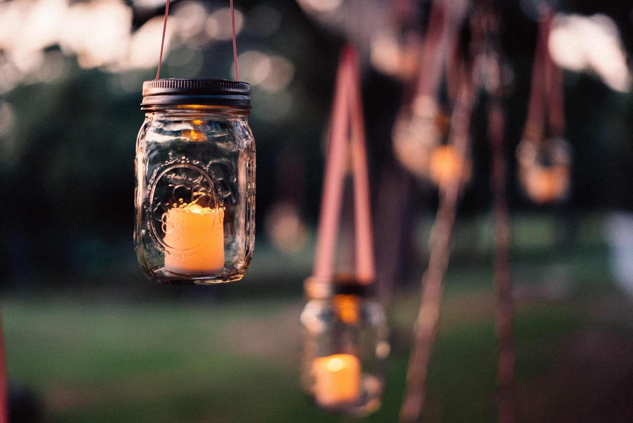 Mason Jar Candle Holders for the Porch