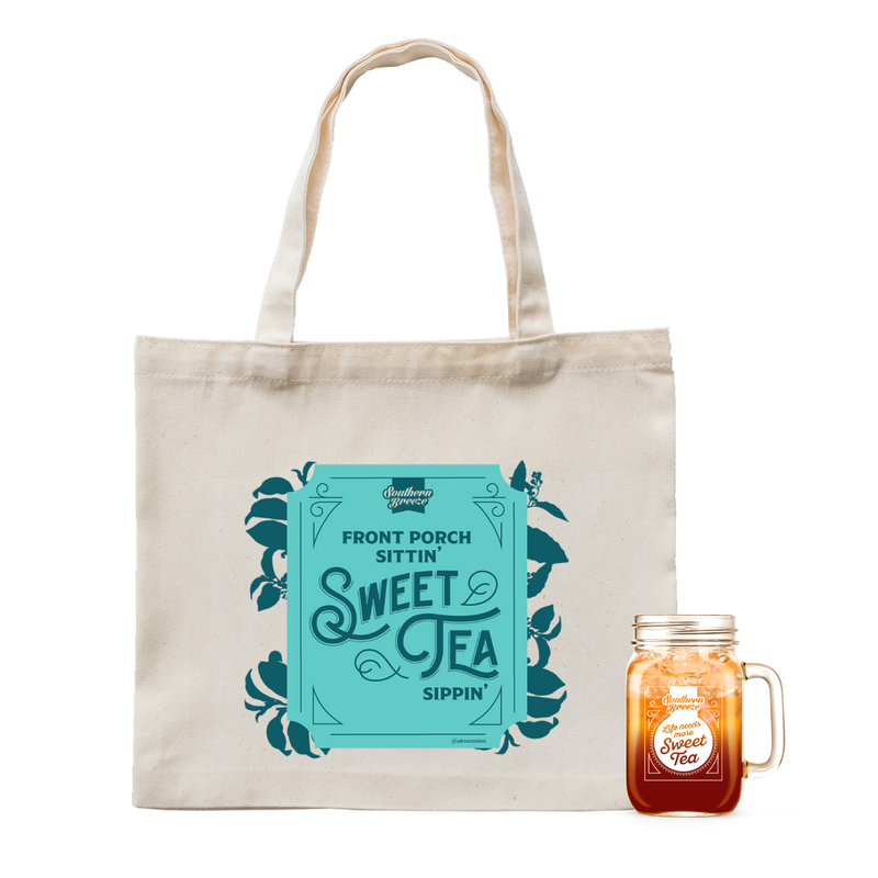 Canvas Tote Bag And Mason Jar Bundle