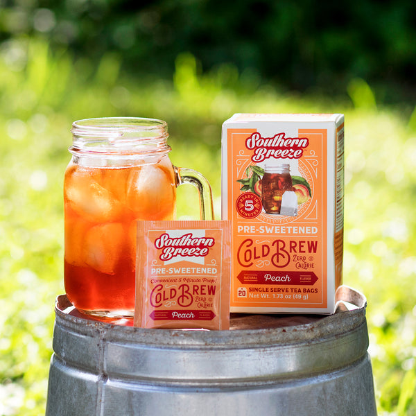 Peach Cold Brew Sweet Iced Tea