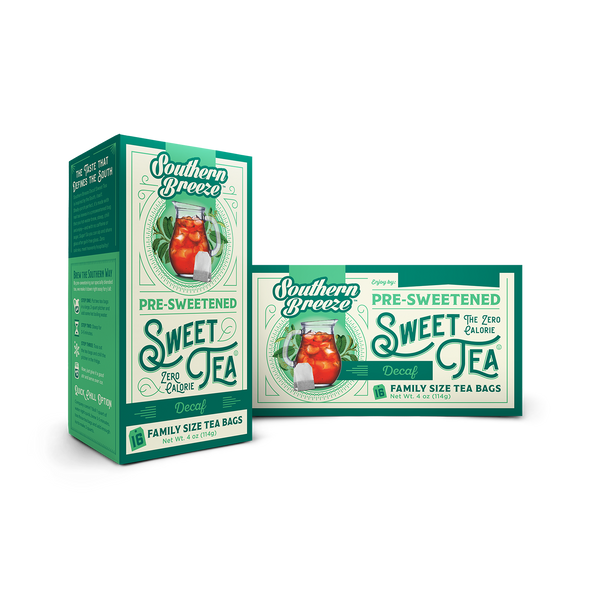 Decaffeinated Iced Sweet Tea - Front and Back