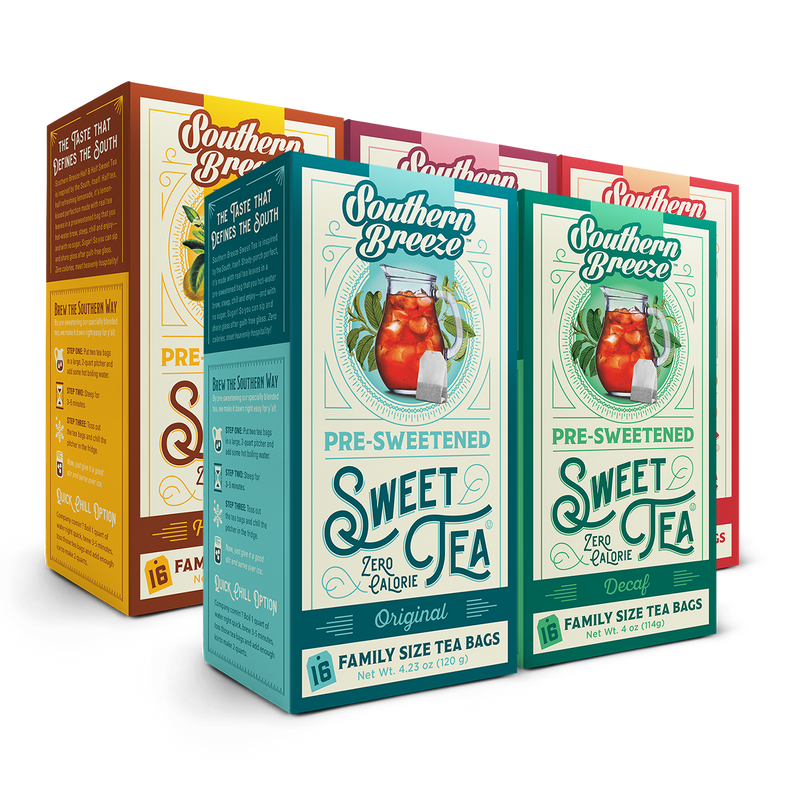 Family Size Sweet Iced Tea Bundle 5 pack with Decaf