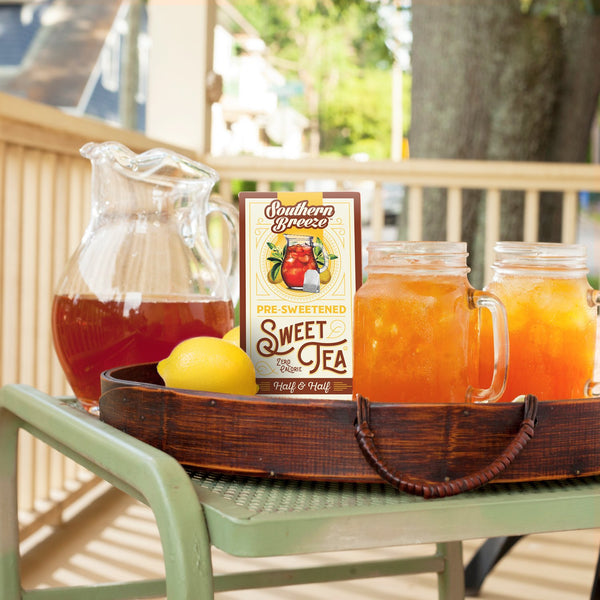 Half & Half Iced Sweet Tea -  On the porch