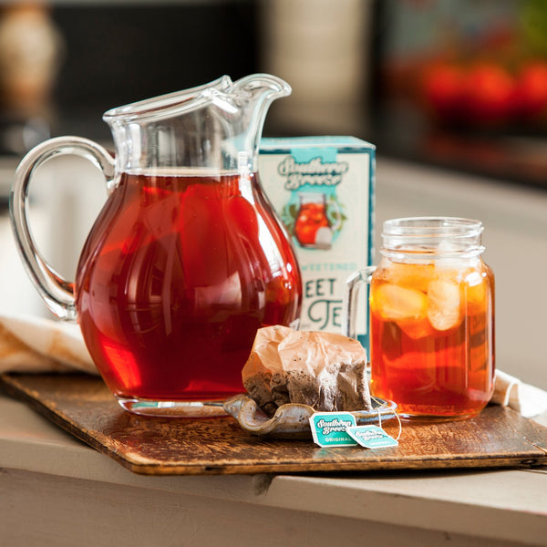 Original Iced Sweet Tea Pitcher and mason jar