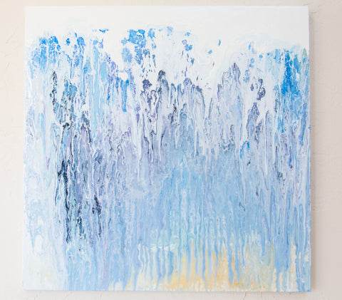 abstract wall art - Absolute Ice by Julia Ross