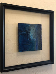 abstract encaustic painting framed