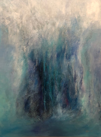 Waterfall Abstract Painting