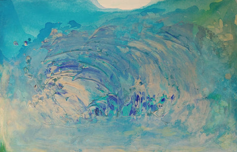 wave ocean wall art original painting julia ross