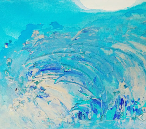 crashing wave painting oceans series