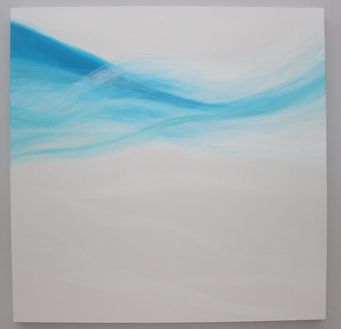 south beach poolside abstract painting by Julia Ross