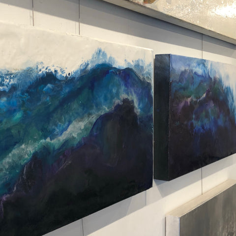 encaustic wave painting