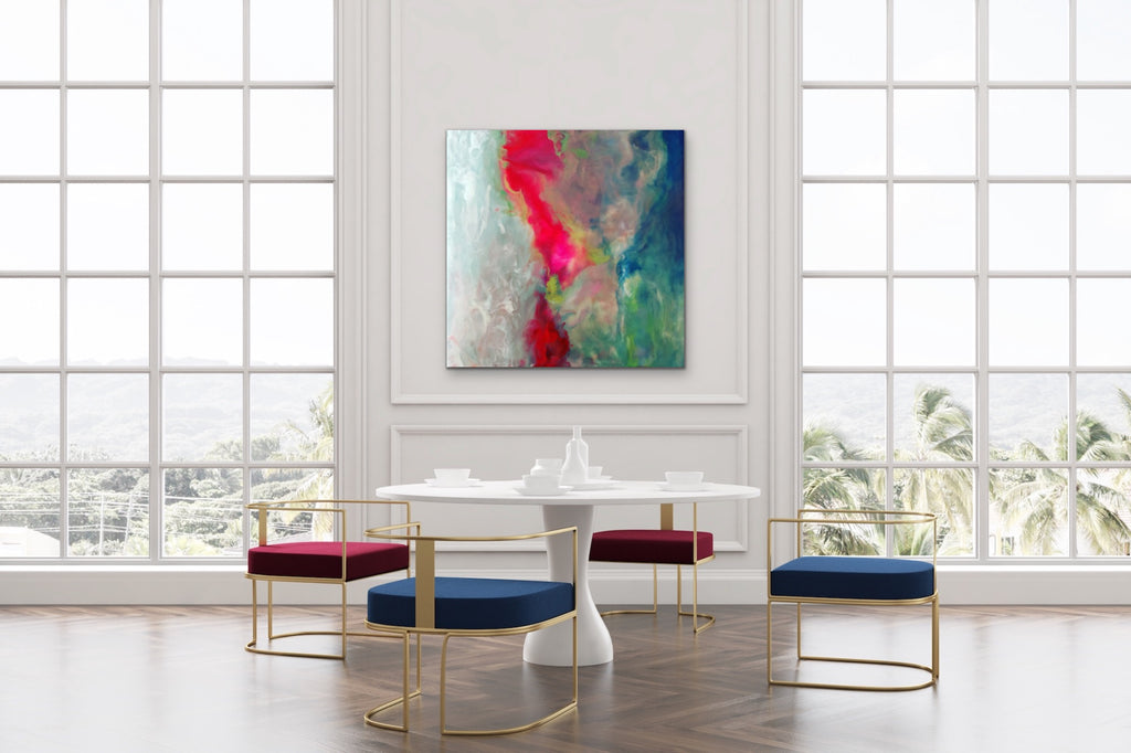Red Tide Encaustic Abstract Painting Limited Edition Print