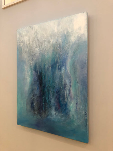 Waterfall Painting Original Large Scale Abstract