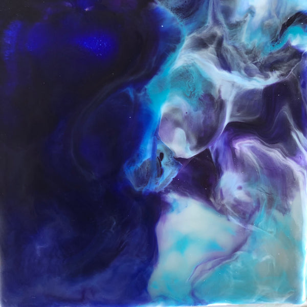 Dark Blue Encaustic Oceans Limited Edition Print
