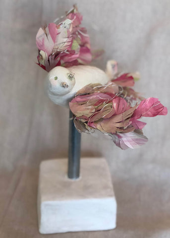 Little Wing Mixed Media Sculpture by Janell Oakes