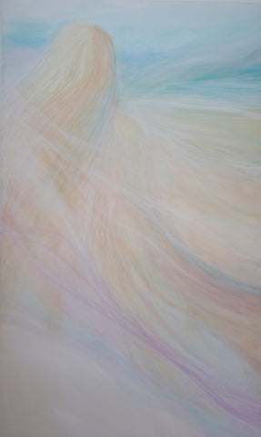 Ocean Breeze Abstract Beach Diptych Painting