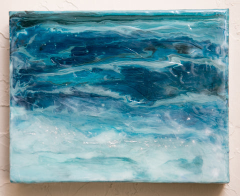 Ocean Calm Beach Art Original Painting